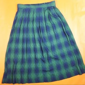 [VTG] Plaid Midi Skirt